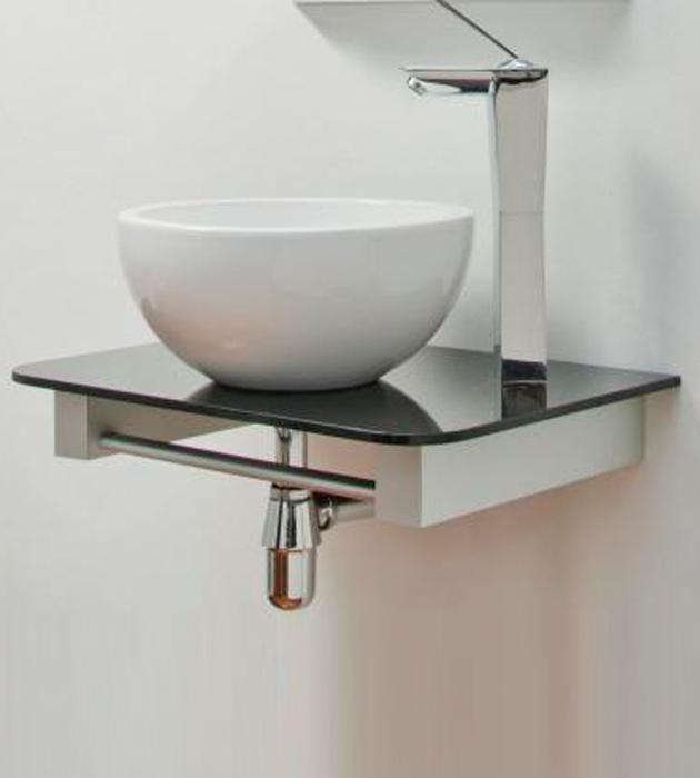 Mesada negra apoyo aluminium reflejar for Tipos de granito para mesada